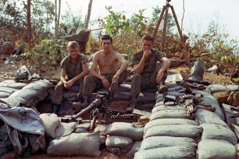 11 Platoon gun group manning 50 cal